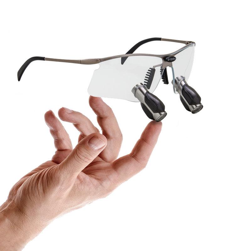 Occhiali ingrandenti prismatici